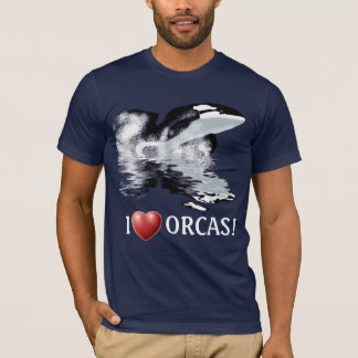 I HEART ORCAS Wildlife Supporter T-Shirt