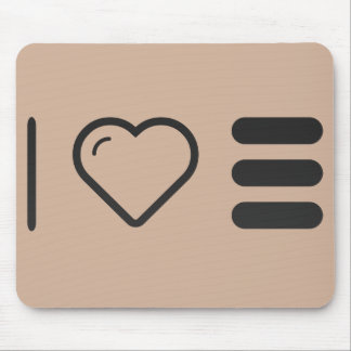 I Heart Orders Mouse Pad