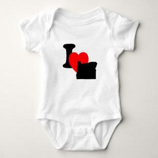 I Heart Oregon Baby Bodysuit