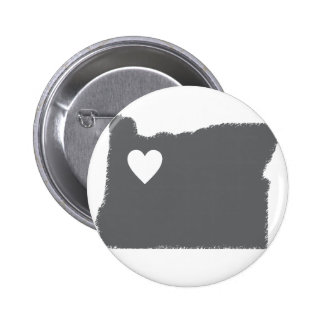 I Heart Oregon Grunge Look Outline State Love Button