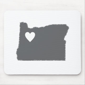 I Heart Oregon Grunge Look Outline State Love Mouse Pad