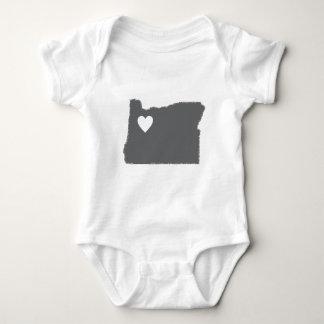I Heart Oregon Grunge Look Outline State Love Tees