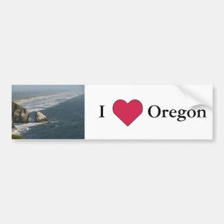 I Heart Oregon (Oregon Coast Rocks) Bumper Sticker