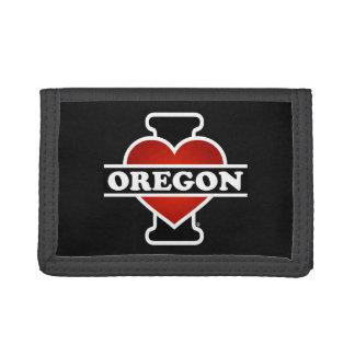 I Heart Oregon Tri-fold Wallet