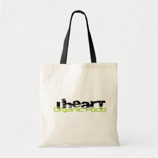 I HEART ORGANIC FOOD TOTE BAG