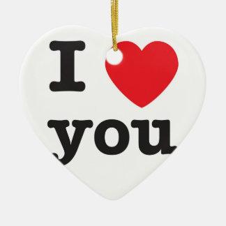 I heart Ornament