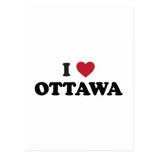I Heart Ottawa Canada Postcard