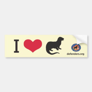 I Heart Otters Car Bumper Sticker