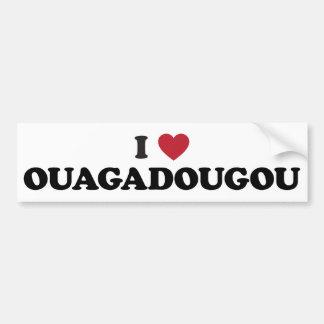 I Heart Ouagadougou Burkina Faso Bumper Sticker