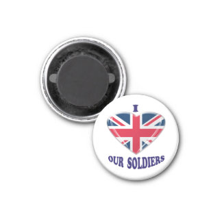 I Heart Our UK Soldiers Magnet