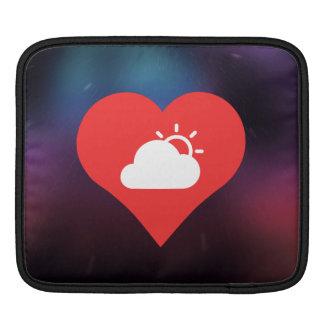 I Heart Overcast Weather Vector iPad Sleeve