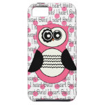 I heart Owls iphone 5 Case in Pink