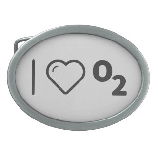 I Heart Oxygens Oval Belt Buckles