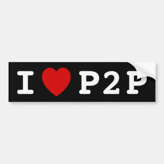 I heart P2P Bumper Sticker