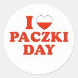I Heart Paczki Day Classic Round Sticker