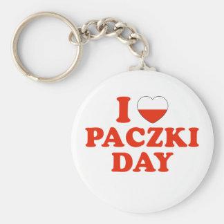 I Heart Paczki Day Basic Round Button Keychain