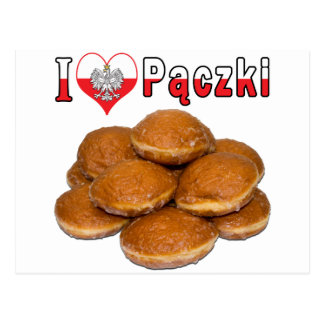 I Heart Paczki Polish Food Postcard