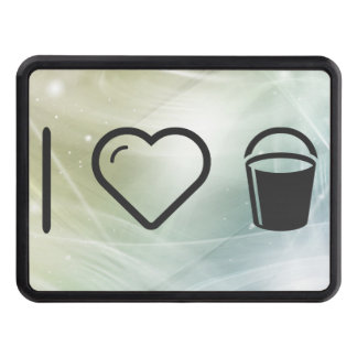 I Heart Pail Waters Trailer Hitch Cover