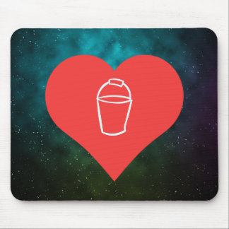 I Heart Pails Icon Mouse Pad