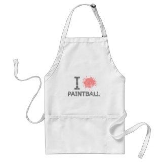 I Heart Paintball Adult Apron