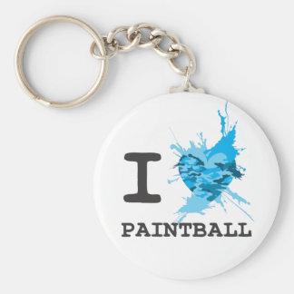 I Heart Paintball Basic Round Button Keychain