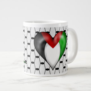 I Heart Palestine Large Coffee Mug