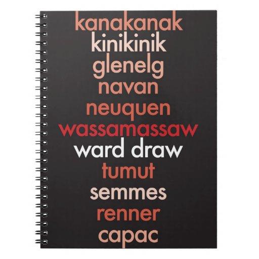 """I Heart Palindromes"" Note Books"