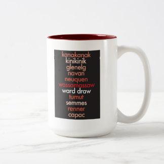 """""""I Heart Palindromes"""" Two-Tone Coffee Mug"""