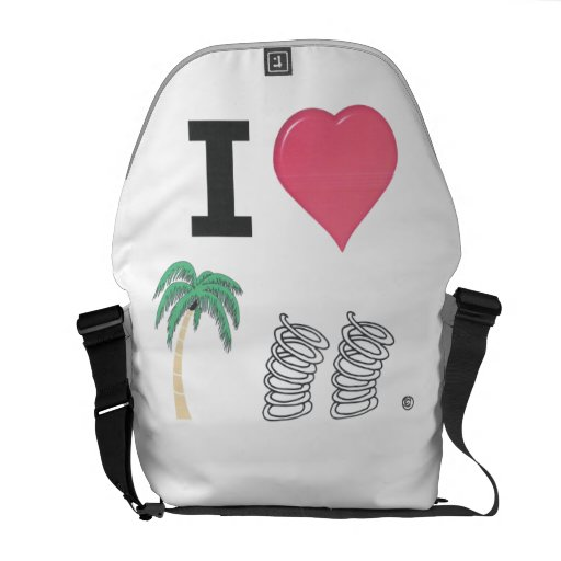 I Heart Palm Springs Courier Bag