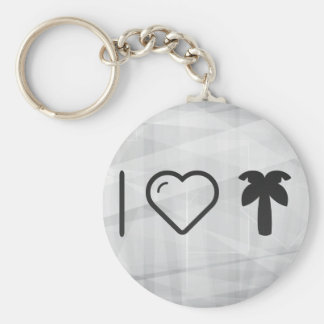 I Heart Palm Trees Basic Round Button Keychain