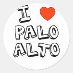 I Heart Palo Alto Classic Round Sticker