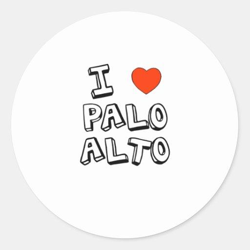 I Heart Palo Alto Round Sticker