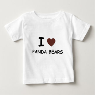 I HEART PANDA BEARS BABY T-Shirt