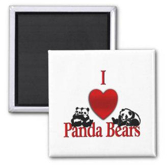 I Heart Panda Bears Magnet