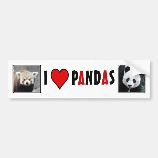 I Heart PANDAS! Bumper Sticker