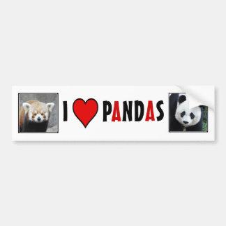 I Heart PANDAS! Bumper Stickers