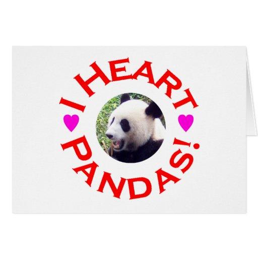 I Heart Pandas - Circle Card