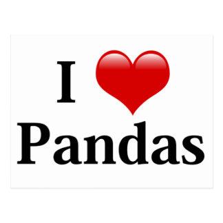 I Heart Pandas Postcard