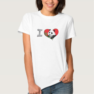 I heart pandas tee shirts