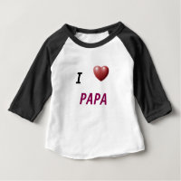 I HEART PAPA KIDS PLAY SHIRT