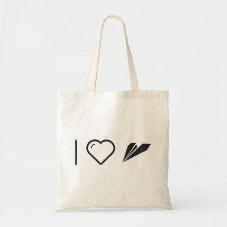 I Heart Paper Airplanes Budget Tote Bag