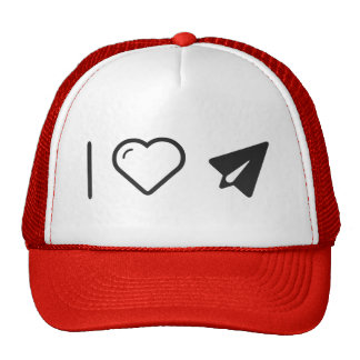 I Heart Paper Airplanes Trucker Hat