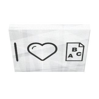 I Heart Papers Canvas Print