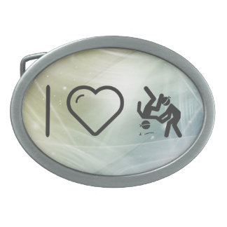 I Heart Paralympic Sports Belt Buckle