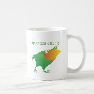 I Heart Paris Green Coffee Mug