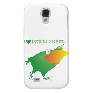 I Heart Paris Green Galaxy S4 Case