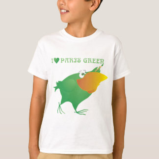 I Heart Paris Green T-Shirt