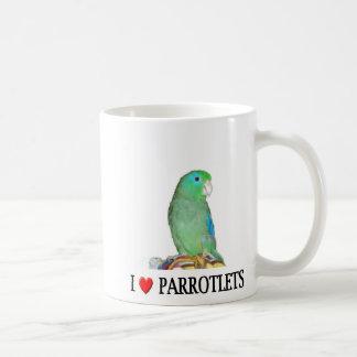 """I """"heart"""" parrotlets mugs"""