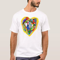 I heart parrots cute cartoon T-Shirt