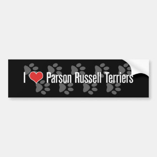 I (heart) Parson Russell Terriers Bumper Sticker